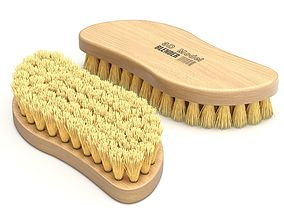 Wooden Scrub Brush 3D model