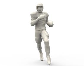 American footballer Pose 3D print model miniatures