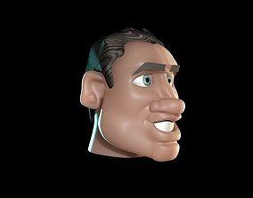 3D Caricature Man Face