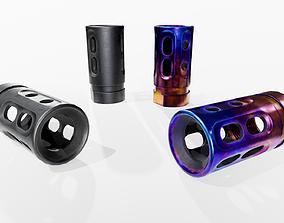 3D model TAA FTS Series Titanium PCC Hybrid Muzzle Brake