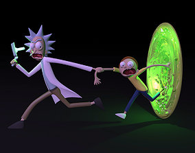 3D printable model Rick and Morty sculpture