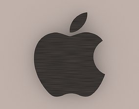 Apple Brushed Steel Logo 3D logo