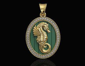 Seahorse pendant 3D printable model stl