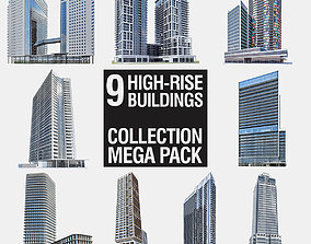 3D asset High-rise Buildings Megapack