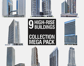 3D asset High-rise Buildings Megapack