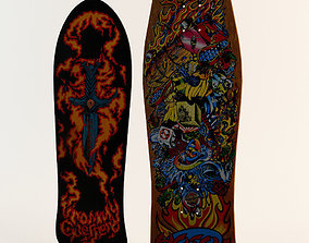 3D model Two Classic Skateboard Decks