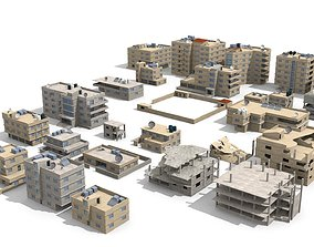 arabian city 27 Buildings 3D model cityscape