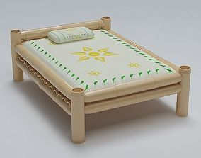 Bed Cot Bamboo 3D
