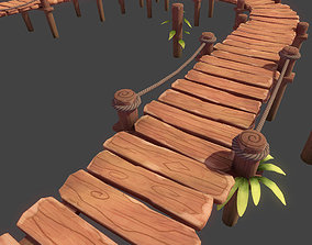 3D asset Toon Modular Bridge - Game Props