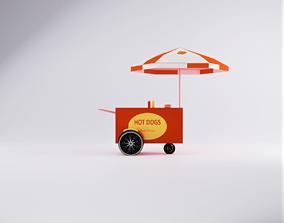 Hot Dog Cart cart 3D asset