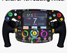 3D asset low-poly SF16H Steering Wheel