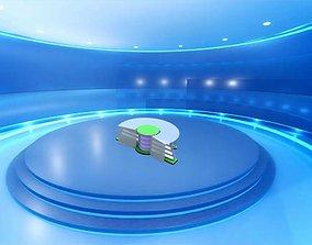 Virtual Tv Studio News Desk 3D printable model