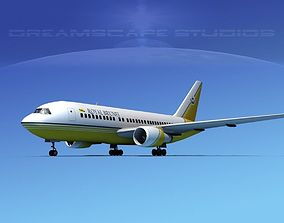 3D Boeing 767-200ER Royal Brunei