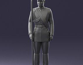 Man in military uniform 0116-12 3D Print Ready gun