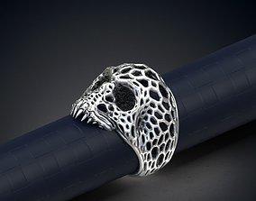 Voronoi Skull Ring 3d model for 3d printing ring