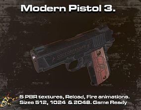 Modern Pistol 3 3D asset