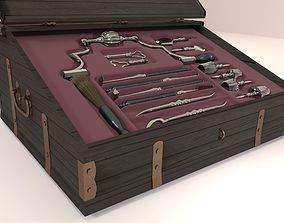 medieval instruments for trepanation 3D model