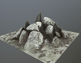 heigh rocks 3D model low-poly