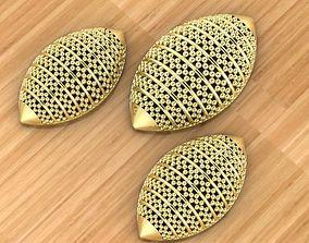 3D print model Plain Golden Locket set without