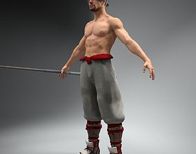 Bo Fighter Not Rigged 3D