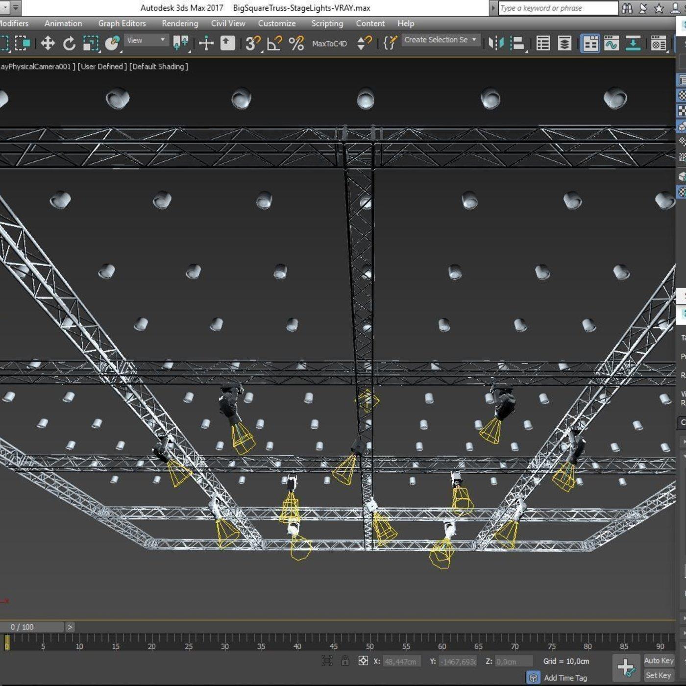 Big Square Truss-Stage Lights