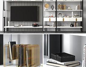 TV wall Giselle Modulare by Capital Collections 3D model