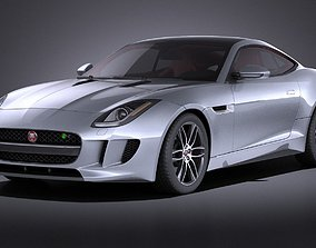 Jaguar F Type R Coupe 2015 VRAY 3D