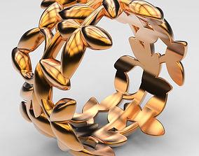 Ring Olive Leafs 3D print model