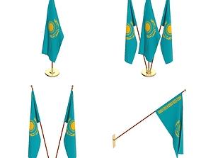 Kazachstan Flag Pack 3D