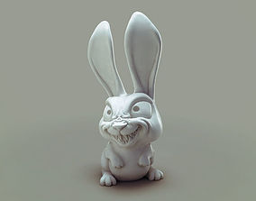 3D print model cute Bulk the mad rabbit