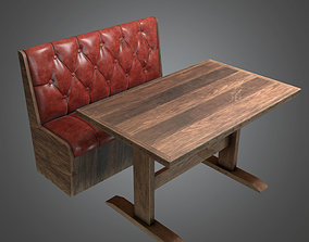 DVB - Booth Table Dive Bar - PBR Game Ready 3D asset