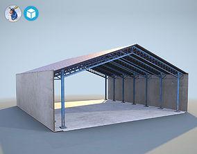 3D asset PBR Hangar