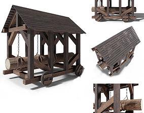 Battering ram medieval 3D model
