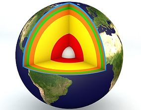 3D model planet Earth Structure