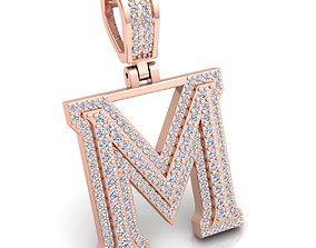 Alphabet Latter M Diamond Pendent 3d Model