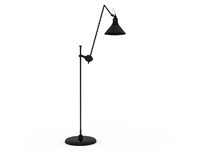 Metal floor lamp Low-poly 3D model VR / AR ready