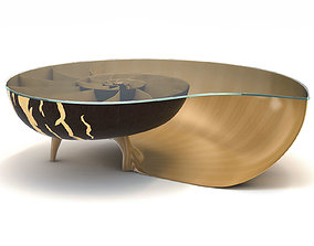 Marc Fish Nautilus II Low Coffee Table 3D model