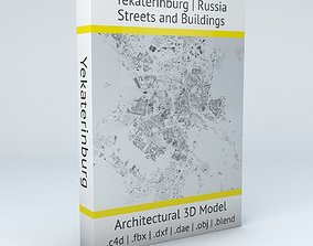 Yekaterinburg Streets and Buildings 3D