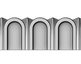 3D printable model Roman Fluted linear molding