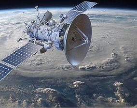 3D model Orbiting Satelite