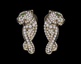 3D print model earrings gold