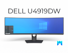 3D asset dell UltraSharp 49 inch curved monitor