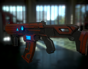 3D model Asset Sci-fi weapons