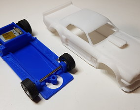 Hoonicorn slot car chassis 3D printable model hobby