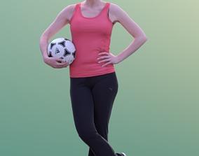 Kim 10207 - Standing Soccer Woman 3D model