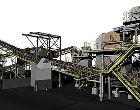 3D model Complete mining rig
