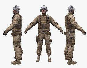 3D model Soldier Enginer