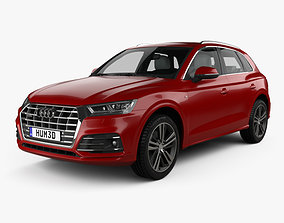 Audi Q5 S-line with HQ interior 2016 3D model