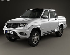 3D UAZ Patriot 23632 Pickup 2014