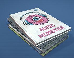 School Book Set 3D asset